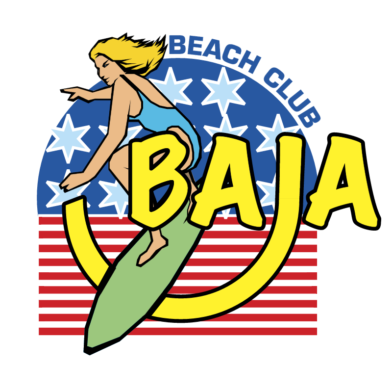 Baja Beach club vector