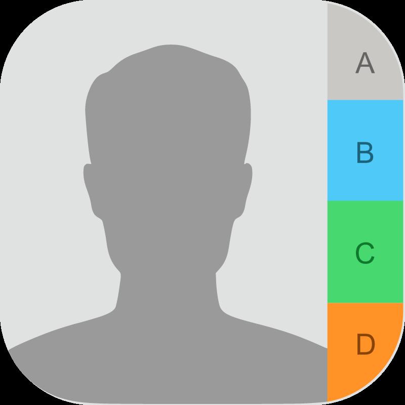 Contacts iOS vector