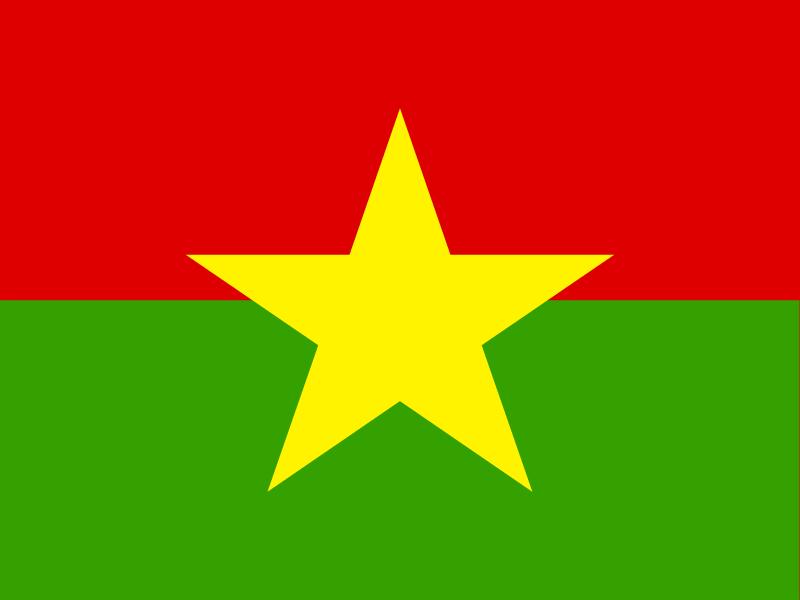 Flag of Burkina Faso vector logo