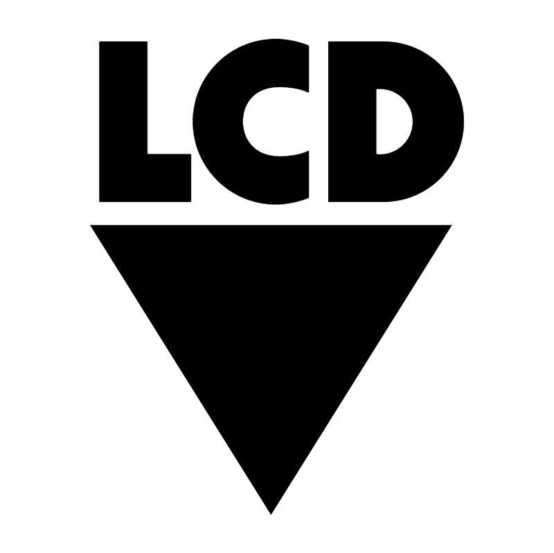 LCD vector logo