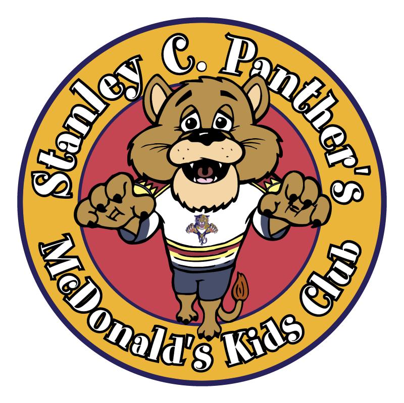 McDonald's & Florida Panthers Kids Club vector