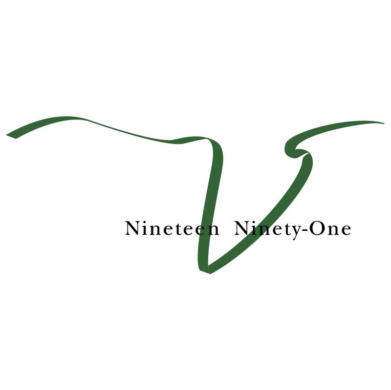 Nineteen Ninety One vector logo