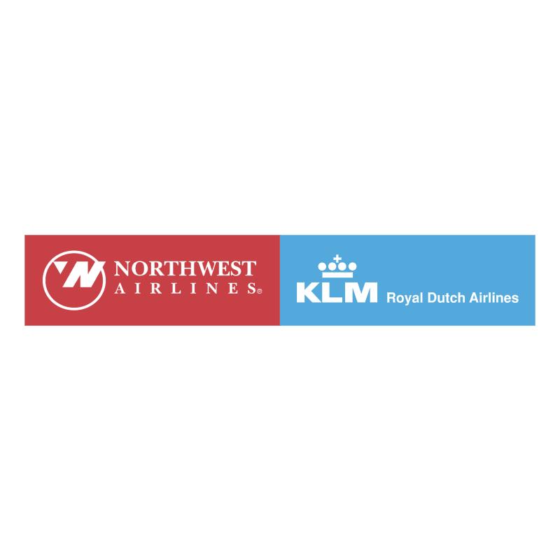 Northwest Airlines KLM vector logo