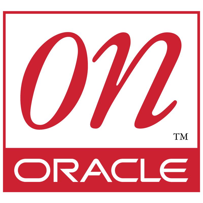 On Oracle vector logo