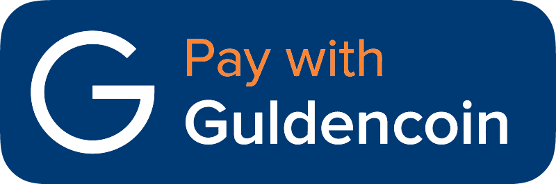 Pay with Guldencoin vector logo