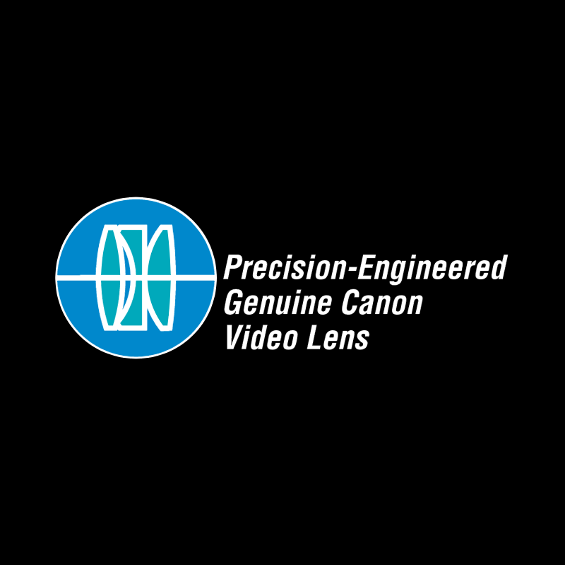 Precision Engineered Genuine Canon Video Lens vector