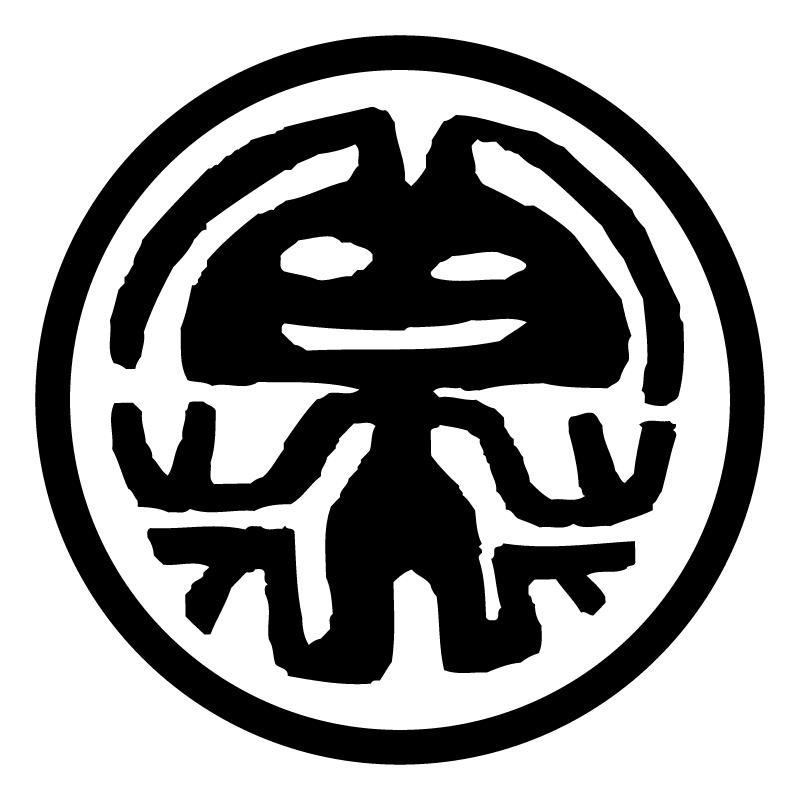 Rabbit in the Moon vector logo