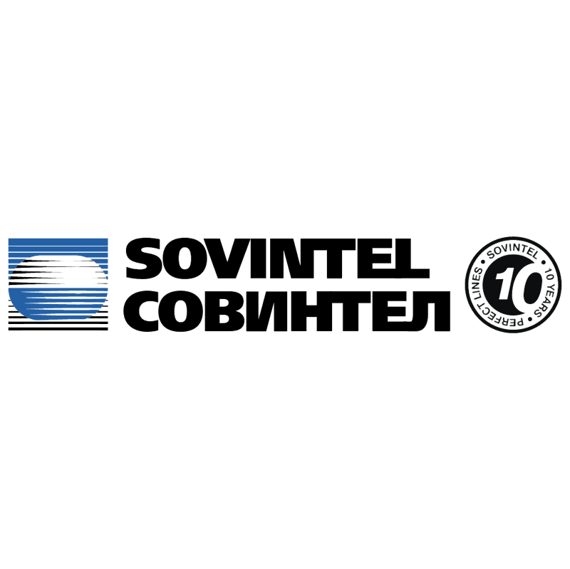 Sovintel 10 years vector logo