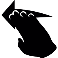 Hand movement to left vector
