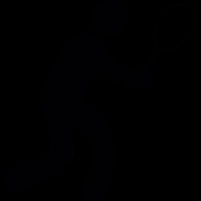 Tennis player vector logo