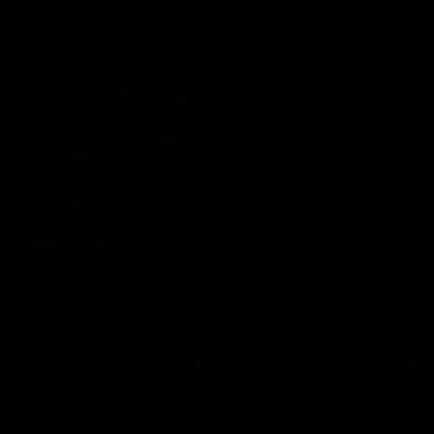 Person play ping pong vector logo