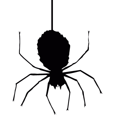 Hanging spider vector logo