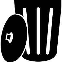 Open dustbin vector