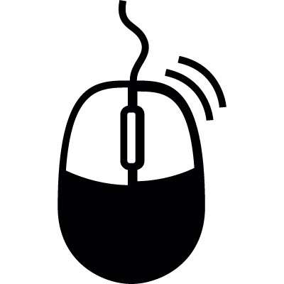 Right clicking computer mouse vector logo