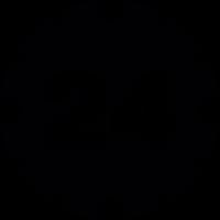 24 hours service symbol vector