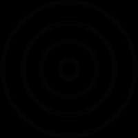 White bullseye vector