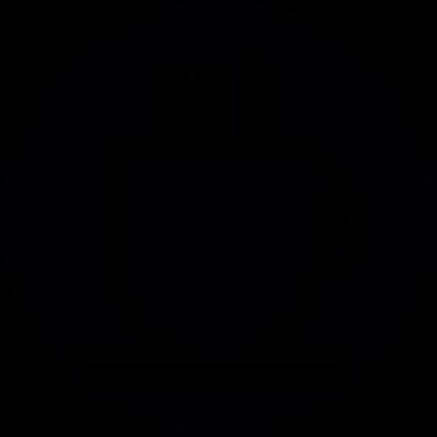 Cup of tea Button vector logo