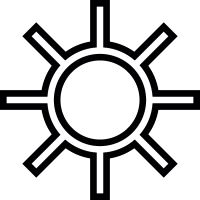 Brightness Button vector