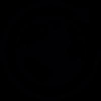 Earth image with circulating arrow vector