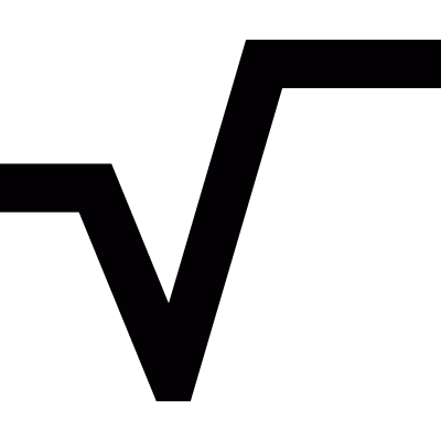 Square root vector logo