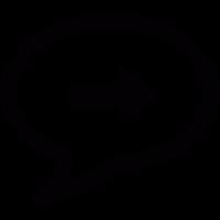 Speech bubble with right arrow vector