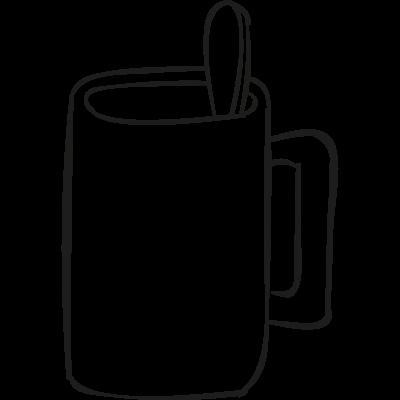 Breakfast Cup vector logo