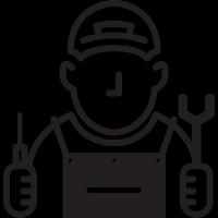 Mechanic with Cap vector