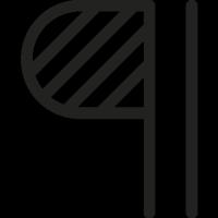 Paragraph Symbol vector
