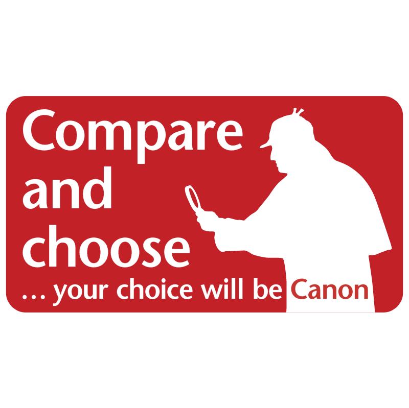 Canon Compare and choose vector