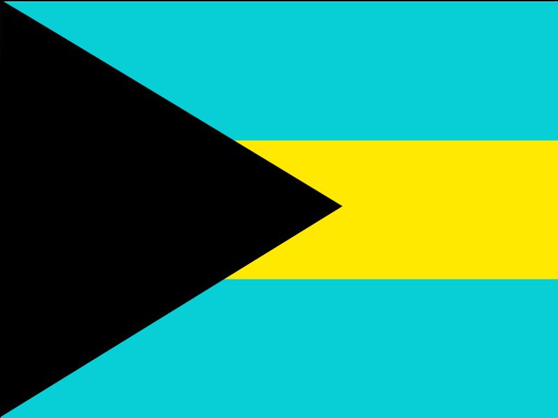Flag of Bahamas vector logo