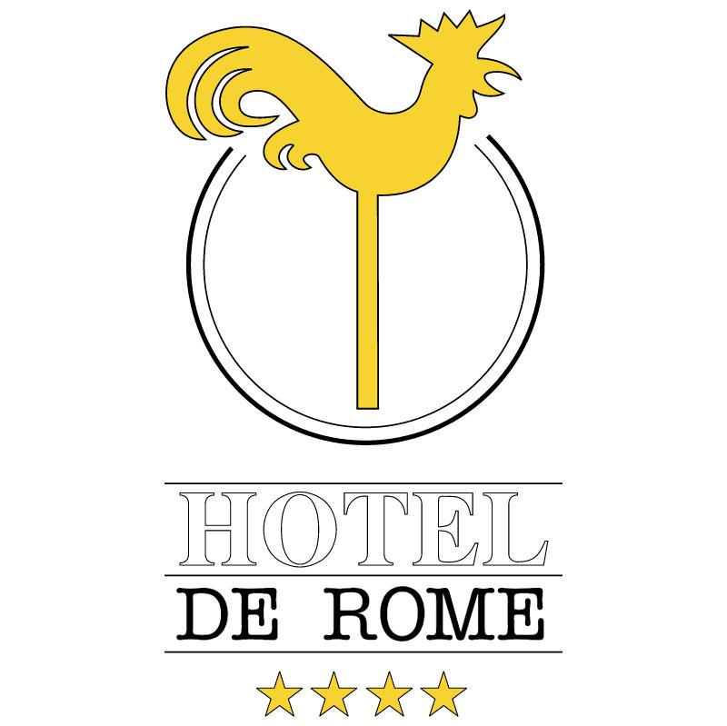 Hotel De Rome vector