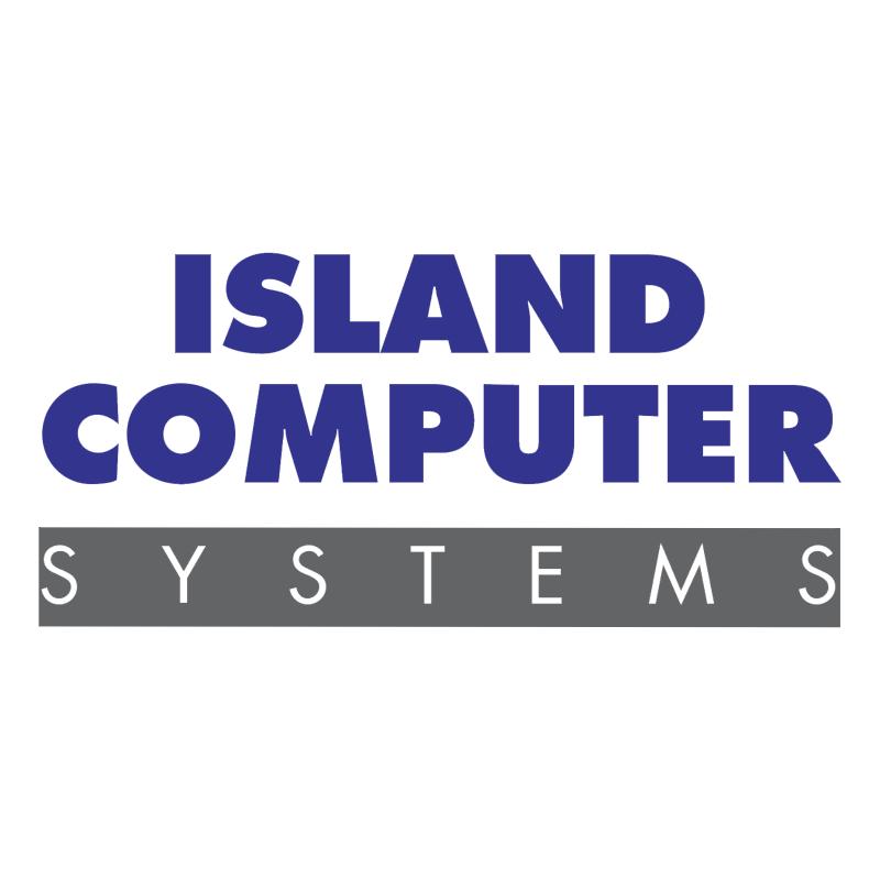 Island Computer vector