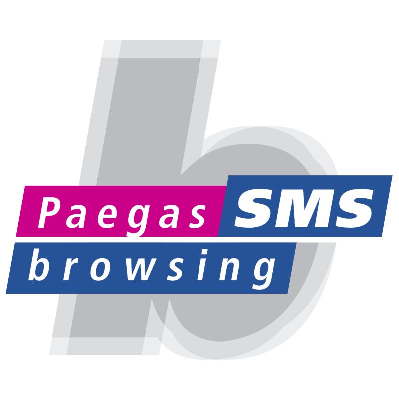 Paegas Browsing SMS vector logo