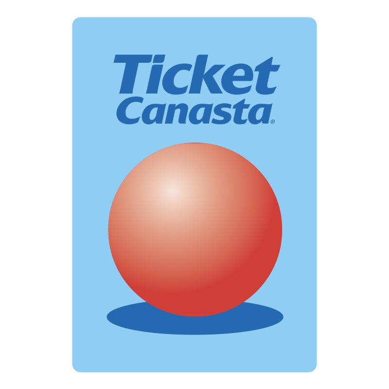 Ticket Canasta vector