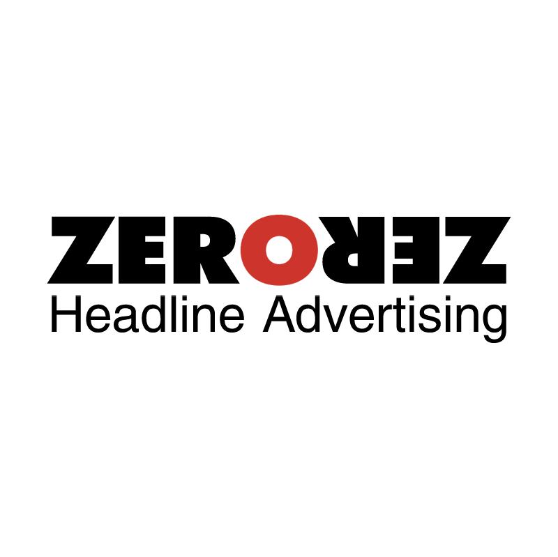 Zero Headline Advertising vector logo