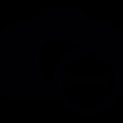 Camera remove button vector logo