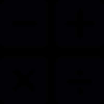 Mathematical operations vector logo