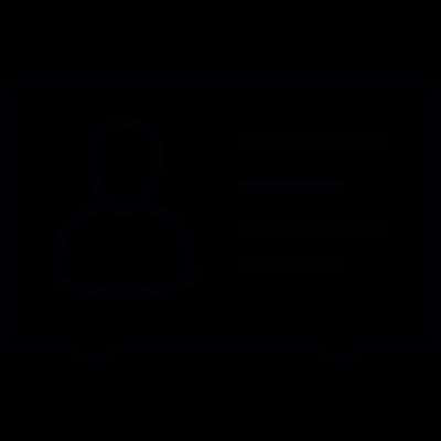 ID card, IOS 7 interface symbol vector logo