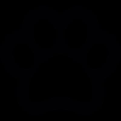 Dog footprint outline vector logo