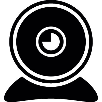 Circle webcam vector logo