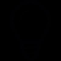Small light bulb vector