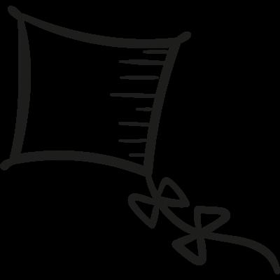 Drawed kite vector logo