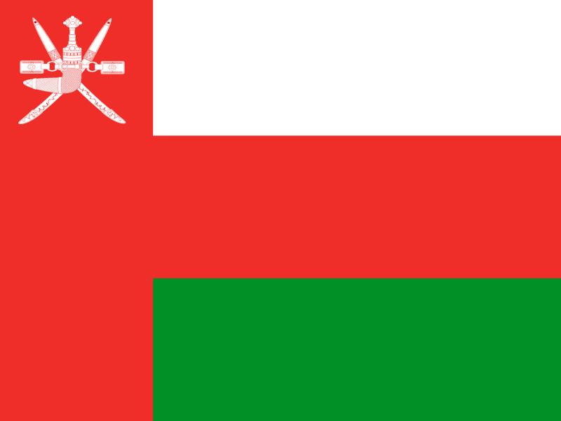 Flag of Oman vector logo