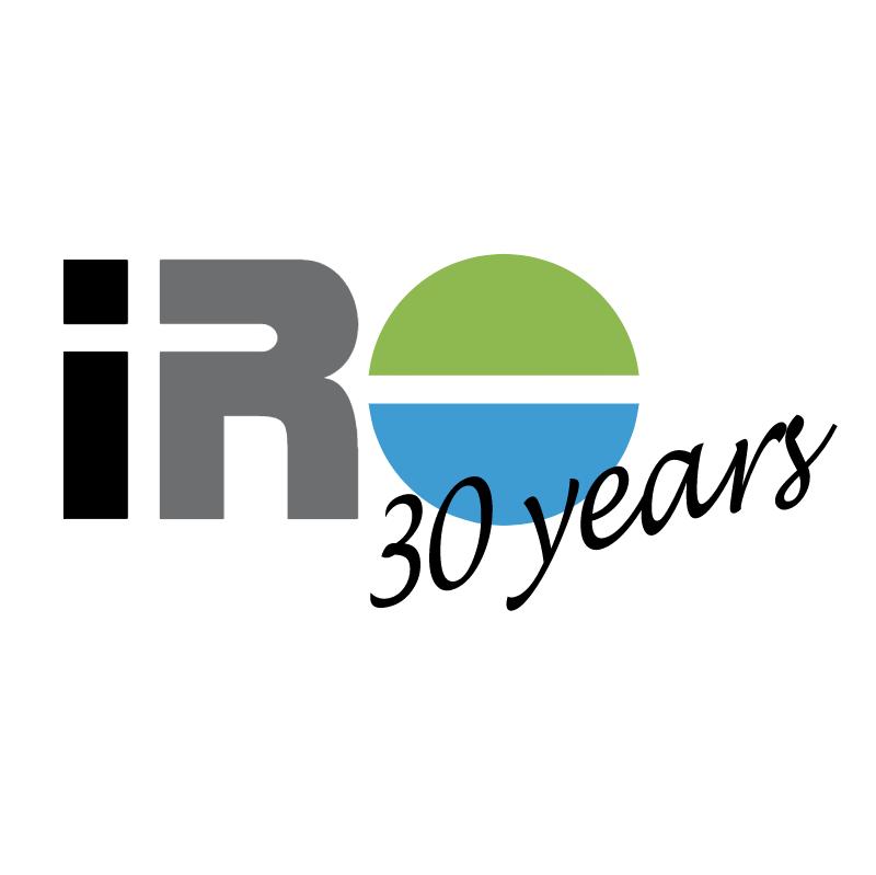 IRO 30 Years vector