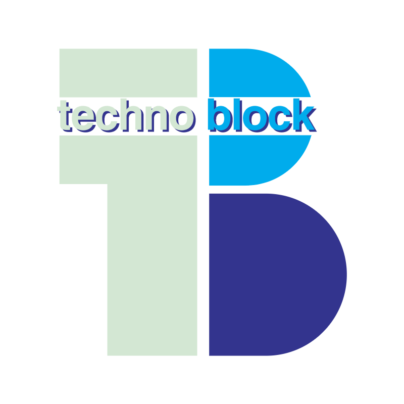 Techno Block vector logo