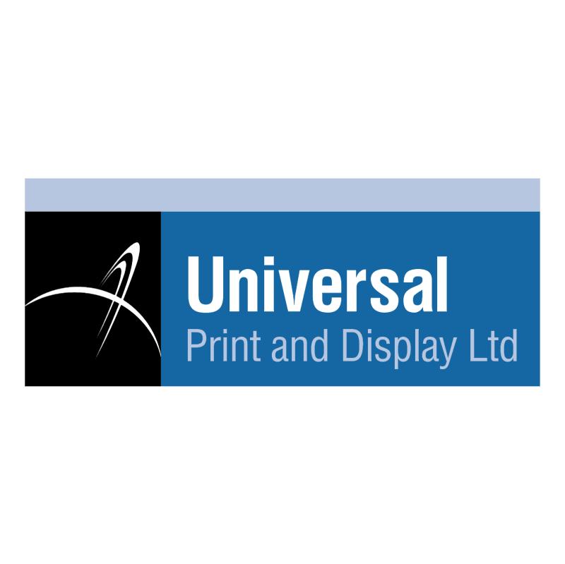 Universal Print & Display vector