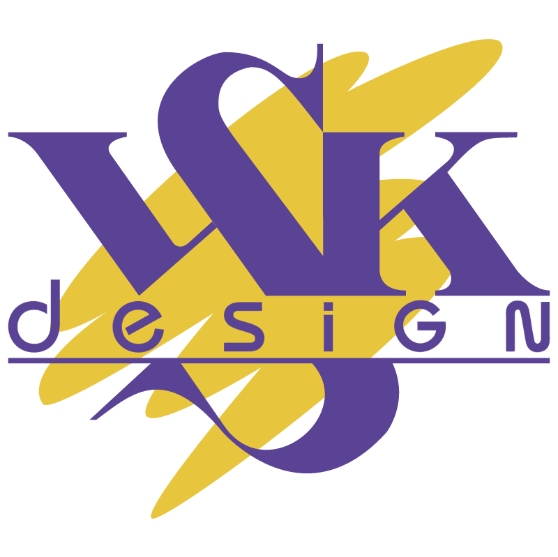 VSK design vector logo