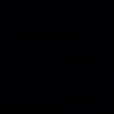 Server add button vector logo