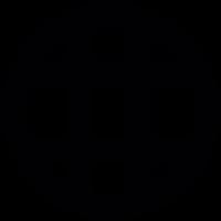 Grid inside circle vector