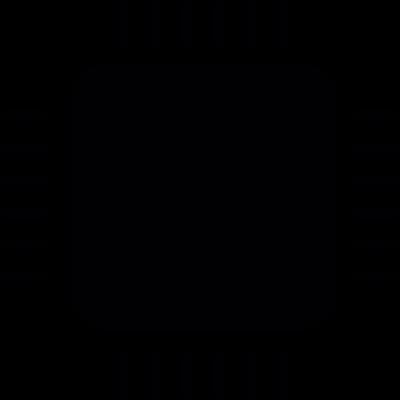 Computer micro chip vector logo